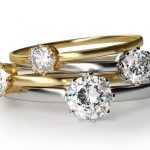 diamond rings yellow gold
